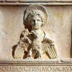 sol-invictus mithra con aureola e aquila