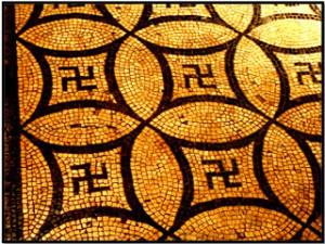 Swastika-12 mosaico romano