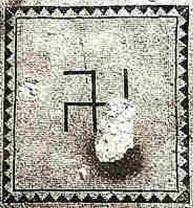 sinagoga Ein Gedi mosaico III d.C. con svastica