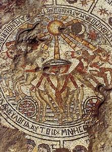 zodiaco in sinagoga con il sole