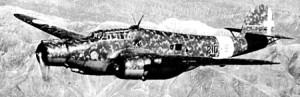 CANT Z-1007bis sorvola le montagne dell'Epiro. Appartiene alla 210a squadriglia, 50alcione_f96_450