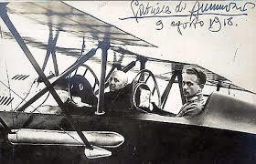 Gabriele D'Annunzio e Natale Palli sullo Sva per Vienna